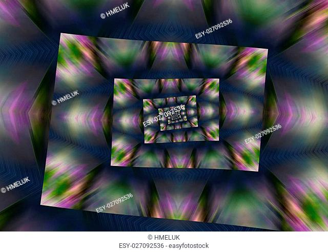 Dark abstract artistic background with the elements of geometry
