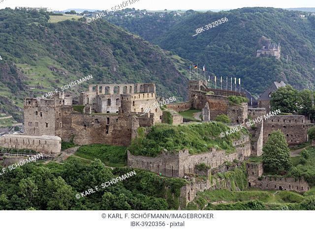 Burg Rheinfels castle, Unesco World Heritage Upper Middle Rhine Valley, near St. Goar, Rhineland-Palatinate, Germany