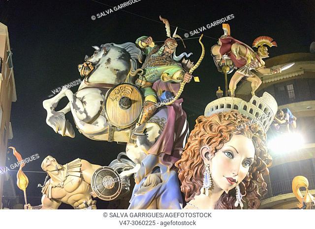 Detail of dolls from Falla Canovas del Castillo, Carcaixent, Valencia, Spain