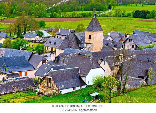 france,65,hautes pyrénées, azun valley : aucun village