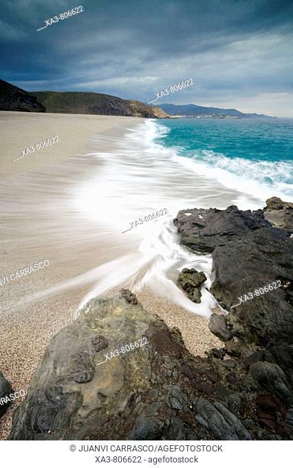 Los Muertos beach. Cabo de Gata-Nijar Biosphere Reserve, Almeria province, Andalucia, Spain