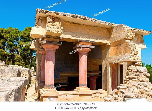 Lustral Basin. Palace of Knossos, Crete, Greece