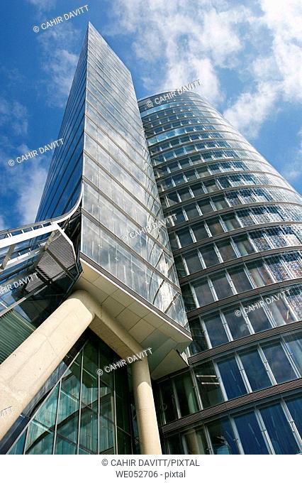 Modern commercial office building on the Untere Donaustrasse, Leopoldstat, Vienna, Wien, Austria