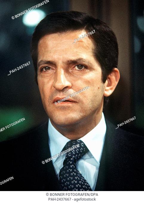 The Spanish Prime Minister Adolfo Suarez Gonzalez, pictured on 3rd November 1977, Bonn.   usage worldwide. - Bonn/Nordrhein-Westfalen/Germany