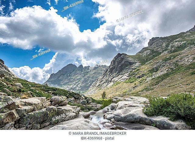 River Golo, mountainous landscape, Nature Park of Corsica, Parc naturel régional de Corse, Corsica, France