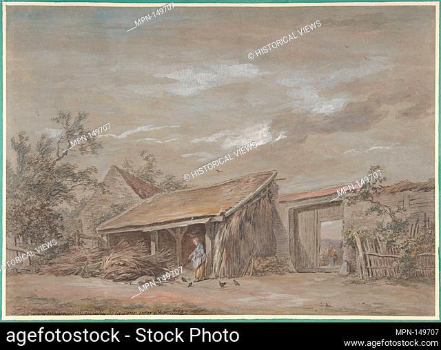 Farmyard. Artist: Jean-Baptiste-Denis Lempereur (French, Paris 1726-1796 Paris); Former Attribution: Formerly attributed to Nicolas Bernard Lépicié (French