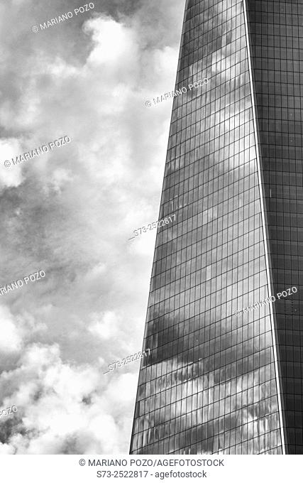 Detail of the One World Trade Center, New York City, USA
