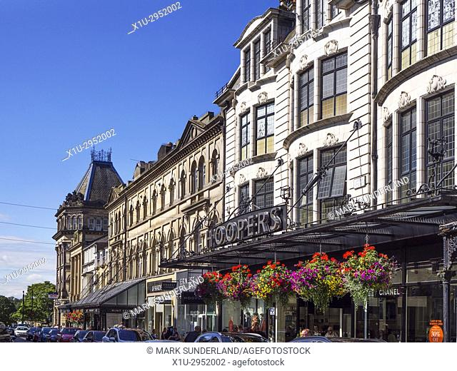 James Street and Hoopers Department Store in Harrogate North Yorkshire England