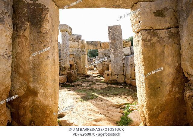 Torre d'en Galmes or Gaumes, Cartailhac Circle (talaiotic age). Alaior, Minorca Biosphere Reserve, Balearic Islands, Spain