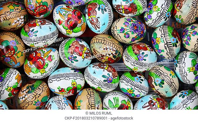 The traditional decorated Easter Eggs in Prague, Czech Republic, on March 21, 2018. (CTK Photo/Milos Ruml)