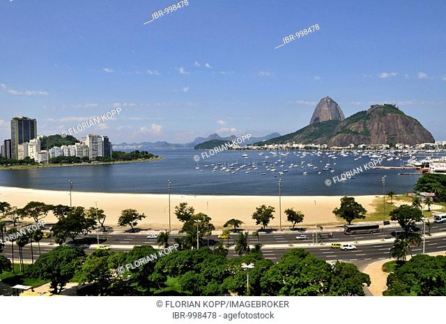 Sugarloaf Mountain, Botafogo Bay, Rio de Janeiro, Brazil, South America