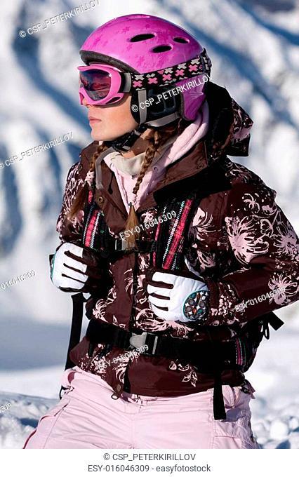 Girl wearing sport gear