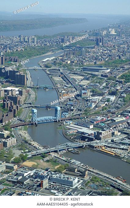 Aerial, Harlem, Harlem River, Bronx, New York