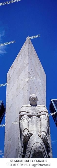 Calvo Sotelo monument Puerto de Europa, Madrid, Spain