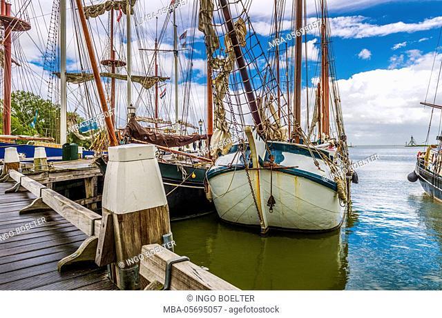 The Netherlands, Hoorn, harbour, sailing ships