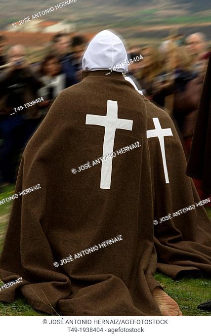 Picaos penitents in San vicente de la Sonsierra in La Rioja