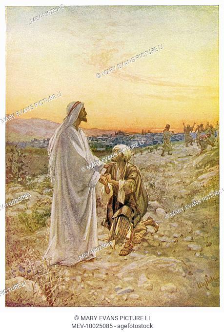 Jesus heals a leper in Samaria