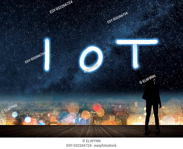 Concept of IOT, internet of things