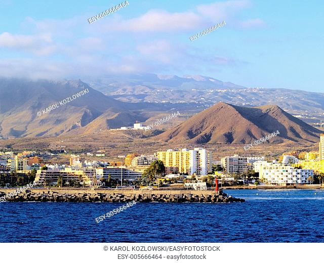 Tenerife, view from ferry going to Hierro, Canary Islands, Spain