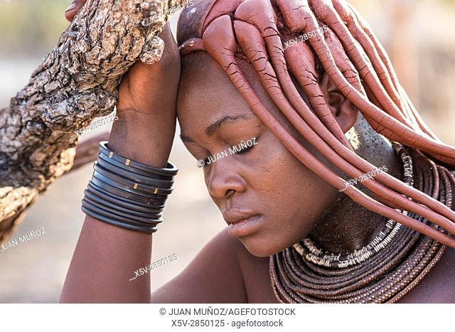 Himba woman. Etosha National Park. Namibia.Africa