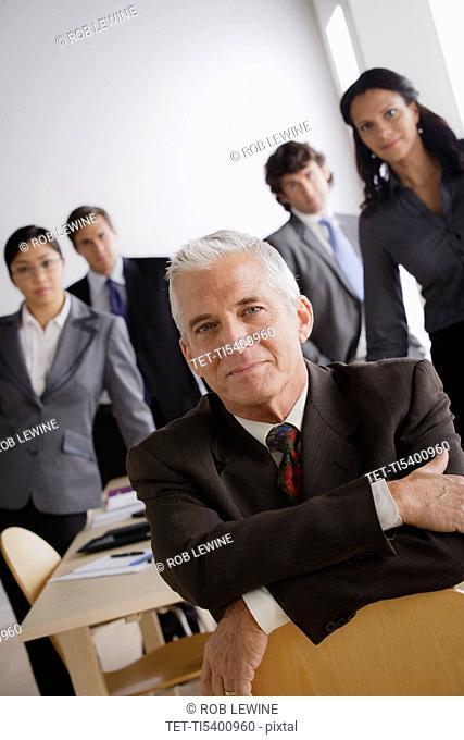Studio shot of business people