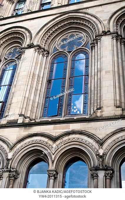 Window detail, Town Hall, Manchester, UK