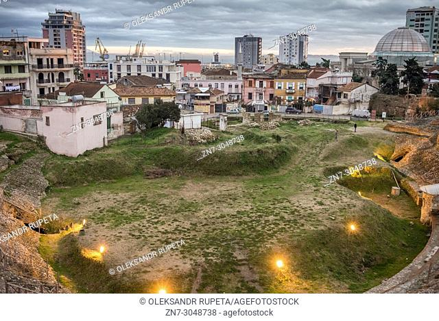 Ruins of the Roman Amphitheatre, Durres, Albania