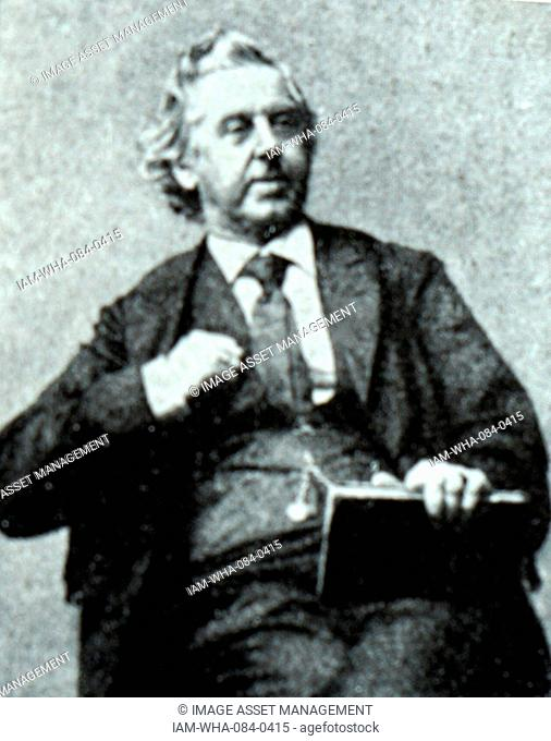Portrait of Niels Gade (1817-1890) a Danish composer, conductor, violinist, organist and teacher. Dated 19th Century