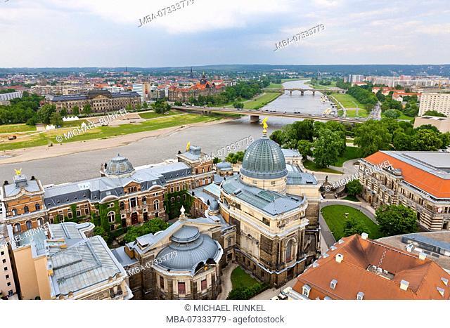 Overlook over Dresden, Saxony, Germany