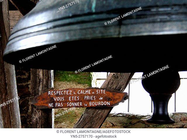 bell church of Vinzelle, Aveyron, Midi Pyrénées, Occitanie
