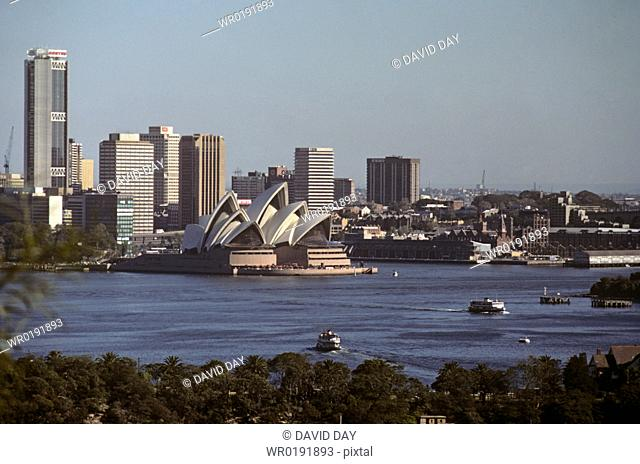 Sydney opera house and harbour Sydney Harbour, New South Wales, Australia