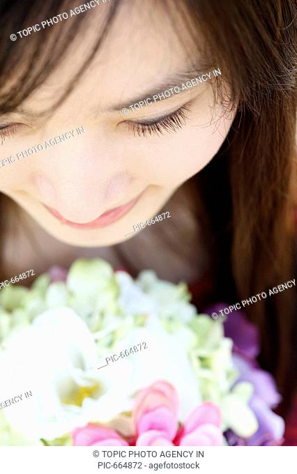 Close-up of Young Korean Woman\'s Face