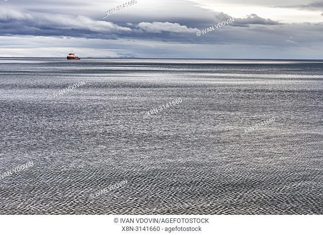 Tierra del Fuego across the Strait of Magellan, Punta Arenas, Magallanes region, Patagonia, Chile