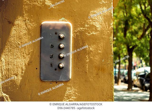 door bells, Valencia, Spain