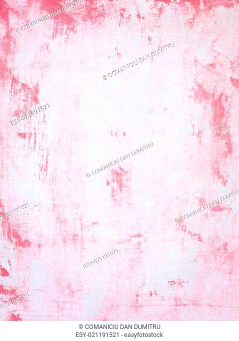 paper with abstract red paint