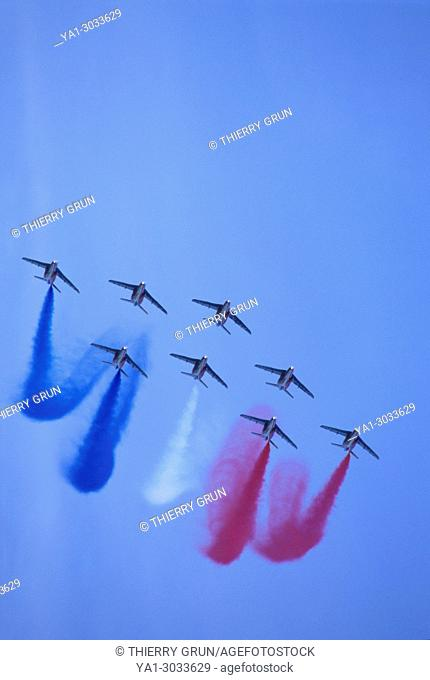 France, Meurthe et Moselle (54), air base of Nancy-Ochey, French aerobatic team La Patrouille de France