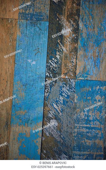Old Grunge Vintage Wood Panels Background