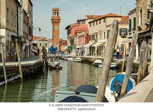 Spring afternoon on the island of Murano, Venice, Italy