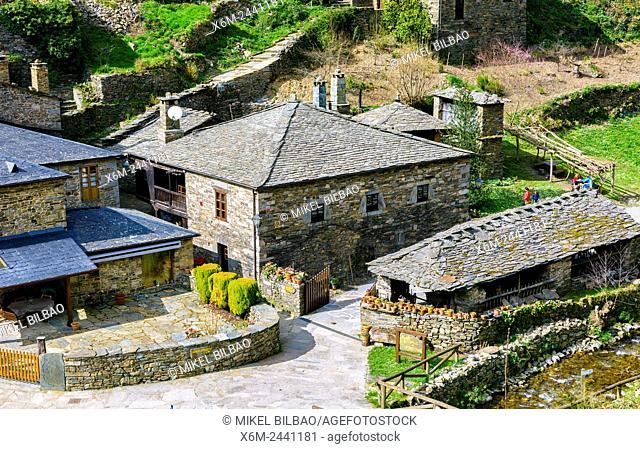 Veigas village. Water route. Mazonovo, Taramundi. Asturias, Spain, Europe