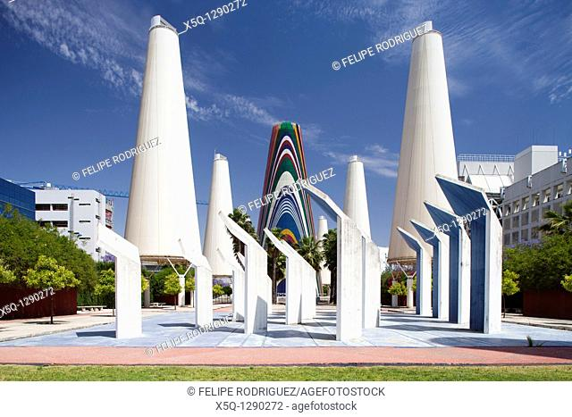 Avenue of Europe, which features twelve massive white-coloured towers, and a central multi-coloured tower featuring the flags of the twelve nations of the...