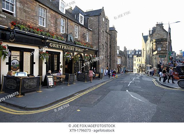greyfriars bobby bar and candlemaker row edinburgh, scotland, uk, united kingdom