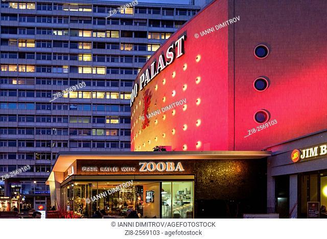 Germany,Berlin,Hardenbergstrasse-Zoo Palast-movoe teatre at night