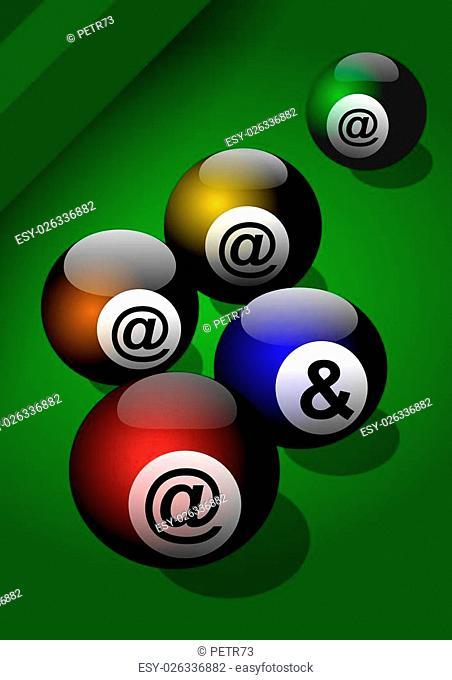 rollmop, background, ball, billiard, black,illustration