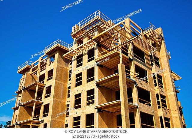 Example of multi-storey wood frame construction in Vancouver, Canada