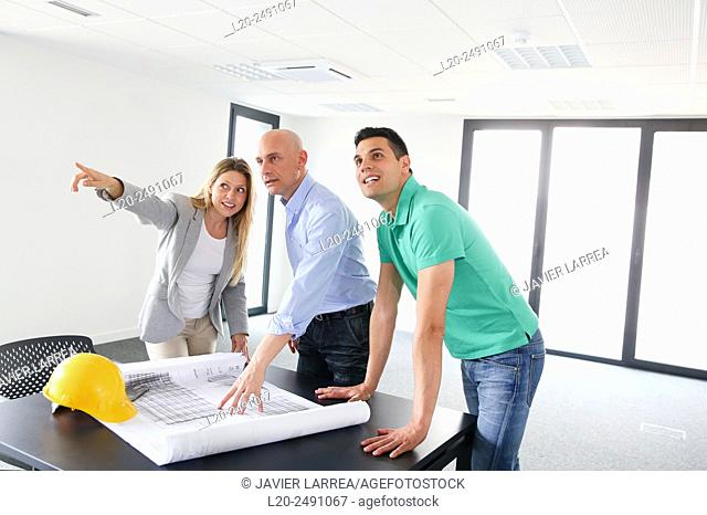 Executives. Site plan. Meeting room. Office building