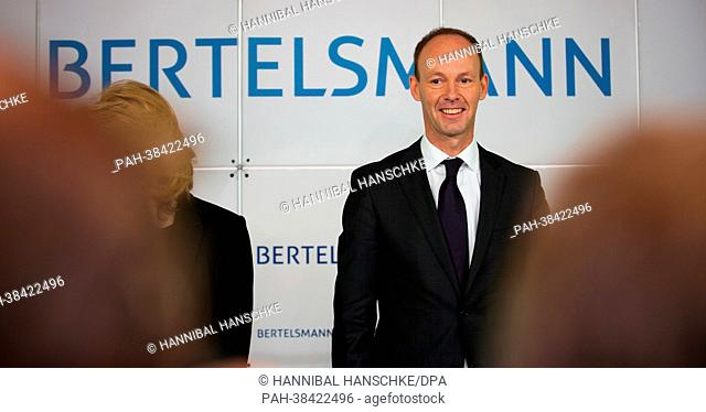 CEO of Bertelsmann, Thomas Rabe, arrives at a press briefing on annual results of Bertelsmann in Berlin, Germany, 26 march 2013