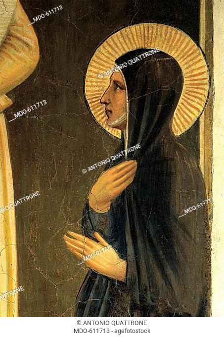 The Presentation in the Temple, by Guido di Pietro (Piero) known as Beato Angelico, 1438 - 1446, 15th Century, curved fresco