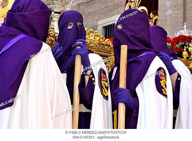 Procession of the association Our Father Jesus Nazarene of San Nicolás el Real, Holy Week, Guadalajara city, Spain