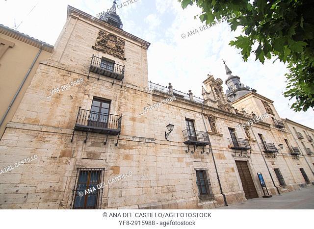 City hall square in Burgo de Osma village Soria province Castile Leon Spain on June 11, 2017