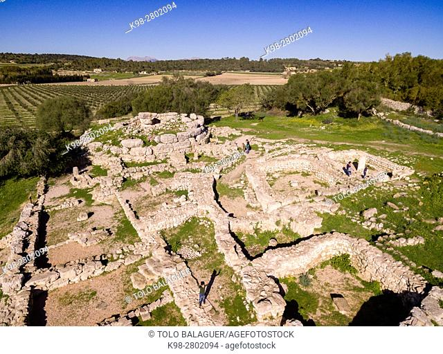 Son Fornés, archaeological site of prehistoric era, built in the Talayotic period, 10th century BC, Montuiri, Mallorca island, Balearic Islands, Spain